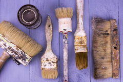 Used paintbrushes Royalty Free Stock Photo