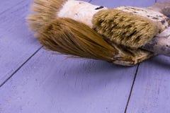 Used paintbrushes Stock Photos