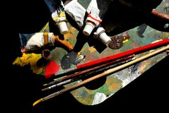 Used painting utensils part 2 Royalty Free Stock Image