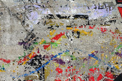 Used painting on wall Stock Photos