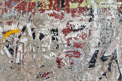 Used painting on wall Stock Photo