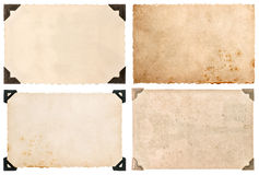Used paper cardboard with corner, vintage postcard Royalty Free Stock Photos