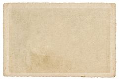 Used paper cardboard edges Texture Background. Used paper cardboard with edges isolated on white background. Texture. Background royalty free stock photos