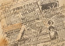Used paper Creative vintage background Newspaper strips. Used paper. Creative vintage style background. Newspaper strips Stock Image