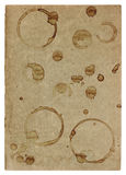 Used paper page texture coffee stains worn edges. Used paper page texture with coffee stains and worn edges royalty free stock photos