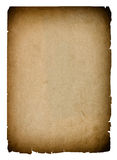 Used paper page texture with dark edges. Vintage background Stock Image