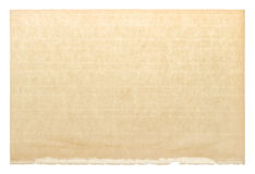 Used paper page texture. Vintage cardboard Royalty Free Stock Photography