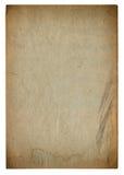 Used paper page texture. Vintage cardboard vignette Stock Images