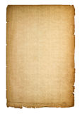 Used paper page texture with worn edges. Vintage cardboard Royalty Free Stock Image