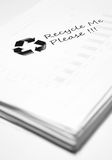 Used paper with recycle sign Stock Photos