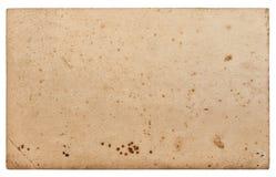 Used paper sheet Cardboard edges isolated white background Royalty Free Stock Image