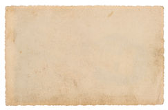 Used paper sheet isolated on white background. Grungy texture Stock Photography