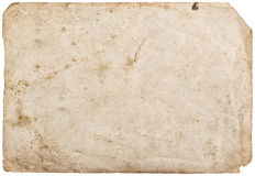 Used paper sheet isolated white background texture Stock Photography