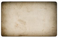Used paper sheet Old cardboard stains vignette. Used paper sheet. Old cardboard with stains and vignette Royalty Free Stock Photos