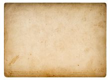 Free Used Paper Sheet Old Cardboard Stains Vignette Isolated Stock Photography - 159166942