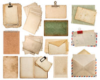 Used paper sheets. Vintage photo album and book pages Stock Photo