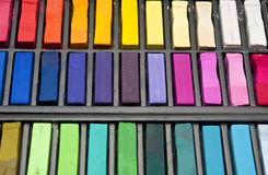 Used pastels Stock Image