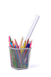 Used pencils Royalty Free Stock Photography