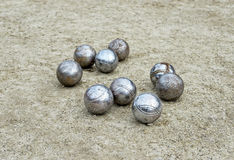Used petanque balls Stock Photos