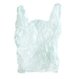 Used plastic bag isolate on white (clipping path). Stock Image