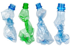 Used Plastic Bottles Stock Photography