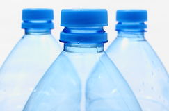 Used plastic bottles of mineral water Royalty Free Stock Photography