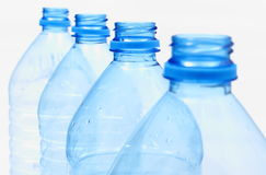 Used plastic bottles of mineral water Royalty Free Stock Photos