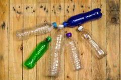 Used plastic bottles Royalty Free Stock Images