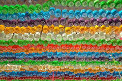 Used plastic colorful bags Stock Photos