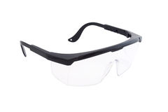Used plastic protection glasses Royalty Free Stock Image