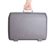 Used plastic suitcase with stains and scratches Royalty Free Stock Photography