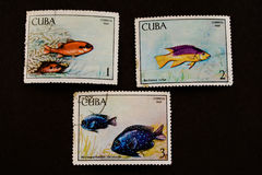 Free Used Postage Stamps From Cuba Stock Photography - 4362672