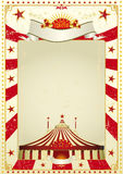 Used poster circus. A new circus vintage background with a big top for a poster. Writing your message Royalty Free Stock Photos
