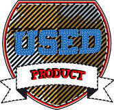 Used product badge Stock Image
