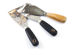 Used putty knives Royalty Free Stock Image