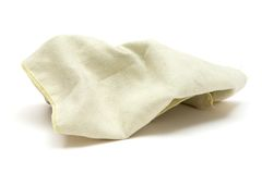 Used Rag. Dirty cleaning rag. White background Royalty Free Stock Photos