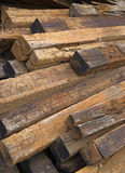 Used railroad ties Stock Photography
