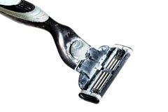 Used razor on a white background Stock Image