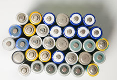 Used rechargeable batteries Royalty Free Stock Images