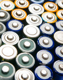 Used rechargeable batteries Stock Photos