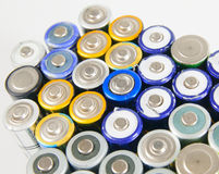 Used rechargeable batteries Stock Images