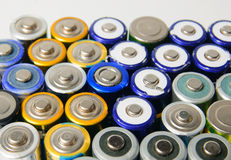 Used rechargeable batteries Royalty Free Stock Photos
