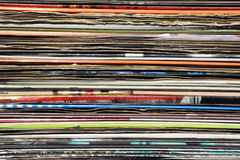 Used records Royalty Free Stock Image