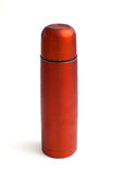 Used red thermos Stock Photography