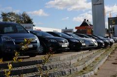 USED FOR RESALE. Copenhagen /Denmark - 09 October 2017. Used car for resale at car dealer in Herlev- Photo.Francis Dean/Dean Pictures stock images
