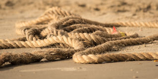 Used rope Royalty Free Stock Photography