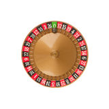 Used roulette wheel and ball Royalty Free Stock Photos