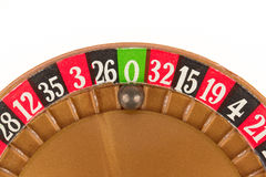 Used roulette wheel and ball Stock Images