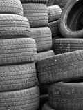 Used Rubber Tires Royalty Free Stock Images