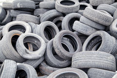Used rubber tyres Royalty Free Stock Images